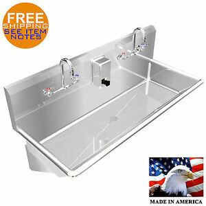MULTI USER WASH UP HAND SINK 2 PERSON 40
