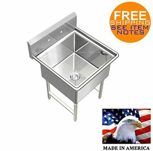 POT SINK HEAVY DUTY STAINLESS STEEL 16GA (0.0625