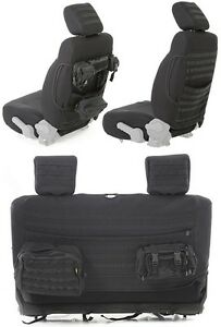 Smittybilt GEAR Front & Rear Seat Covers w 7 Pouches 13-18 2dr Jeep Wrangler JK
