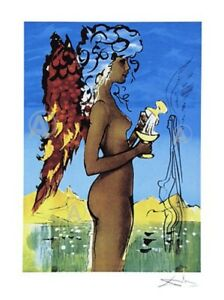 SALE RARE SALVADOR DALI SIGNED SURREAL LOVE Ltd Ed w COA LAST ONES $295.00