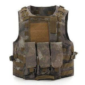 SWAT Tactical Vest Combat Molle Assault Military Army Airsoft Vest Outdoor Game