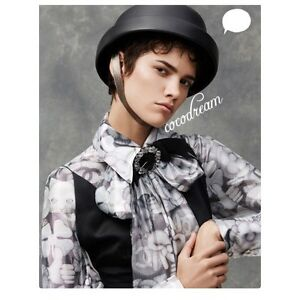 New Chanel Runway FW 2016  2017 Top Dress Blouse  Emoji With Scarf In Bag 40