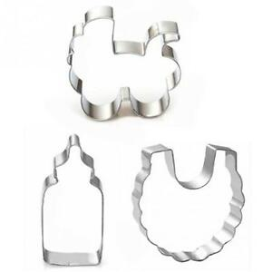 3pcs Stainless Steel Cookie Cutter Cake Mold DIY Cake Pastry Tools Cookie Mold