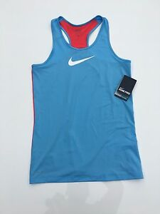 Girls Nike Shirts Tank Top Kids Dri Fit Sleeveless Training Blue Red Size XL $17.99