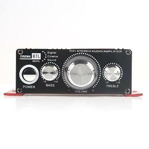Mini Hi-Fi Stereo Amplifier Booster DVD MP3 Speaker for Car Motorcycle Home