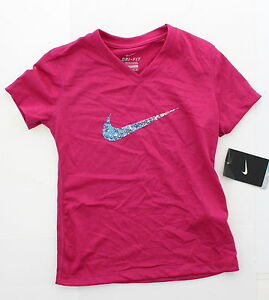 Nike Girls Youth Atheltic Training Running Sports Tee T Shirt Top XS S M L