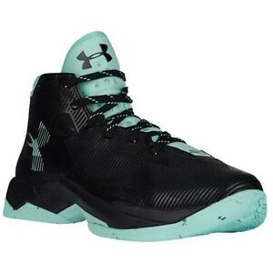 UNDER ARMOUR UA Kids Boys Girls Curry 2.5 Basketball Shoes Sneakers Black Mint