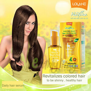 Lolane Hair Serum Colored Hair Color Protection Shiny Sunflower Seed Extract $13.00