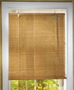Roll-up Natural Bamboo Window Blinds 25