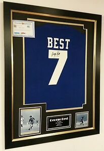 *** Rare GEORGE BEST of MANCHESTER UNITED Signed Shirt Autograph DISPLAY ***