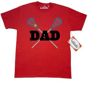 Inktastic Lacrosse Dad Gift T-Shirt Sports Team For Stick Player Coach Mens Tees