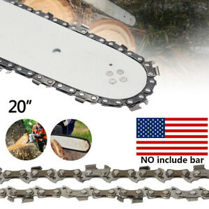 20quot; Chainsaw Saw Chain Blade 3 8quot;LP .058 Gauge 72DL Replacement No Guide Bar $9.18