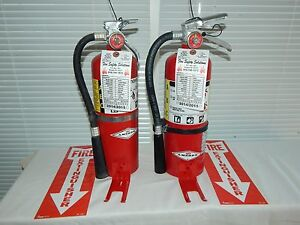 Fire Extinguisher 5Lb ABC Dry Chemical Lot of 2 SCRATCH&DENT