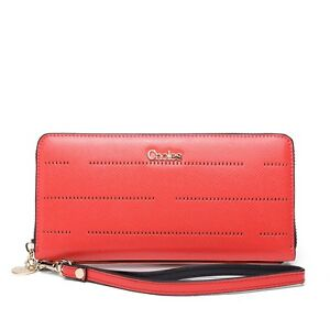 Women High Quality Leather New Brand Long Wallet Fashion Card  Holder Clutch