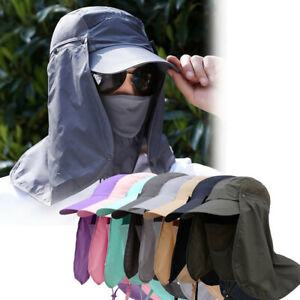 360° Outdoor UV Protection Sun Hat Visor Neck Cover Flap Cap For Hiking Fishing