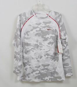 Nike fit dry Camo  big kids  T-Shirt  white gray  XL NEW