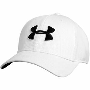 UNDER ARMOUR NEW Men's Cap White Blitzing II Stretch Fit BNWT