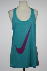 Nike Dri Fit New Womens Teal Active Tank Top Sz M Sleeveless Casual Shirt
