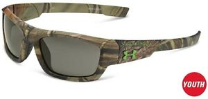 Under Armour Ace Youth Sunglasses Realtree Camouflage Frame Gray Lens 50 mm NEW