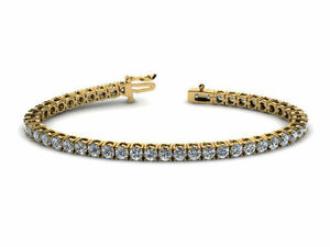 SPECIAL DESIGN 10 CT VS (VS1-VS2) H  DIAMOND TENNIS BRACELLET 14 K YELLOW GOLD