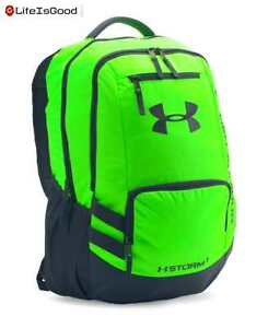 Under Armour Storm Hustle II Backpack Hyper Green (389) One Size