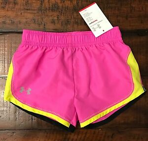 New Under Armour Pink Track ShortsToddler Girl Size 12 Months