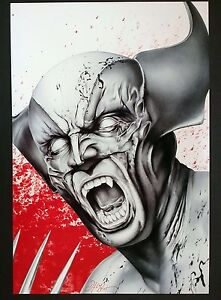 DON MONROE WOLVERINE ART PRINT SIGNED BY ARTIST 13quot;X19quot; $39.99