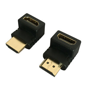 HDMI 90 Degree and 270 Degree Right Left Angle Convertor Male to Female Adapter