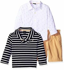 Nautica Childrens Apparel N130E38Q Boys Button Down Shirt- Choose SZColor.