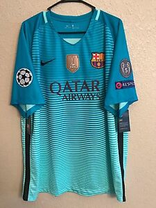 Spain Barcelona Messi Official Patches Nike Jersey Football Soccer XXL  Shirt