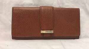 NEW LODIS WOMEN'S LEATHER STEPHANIE ALIX RFID PROTECTED TRIFOLD WALLET CHESNUT