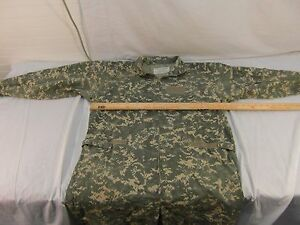 Military Issued Army Intermediate Flight Suit Large ACU Camo PolyCotton 32726