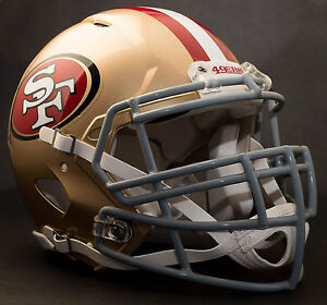 SAN FRANCISCO 49ers NFL Authentic GAMEDAY Football Helmet w S3BD-SP Facemask