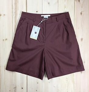 Nike Golf Shorts Women's 8 Dri Fit Brown Cotton Pleated Pockets NWT Vtg 2002