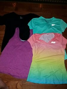 Lot Of 4 WOMENS SHIRTS NIKE DRY FIT FILA GAP MAURICE'S LOOK