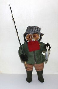 Abercrombie & Fitch vintage FISHING owl doll  RARE made in England