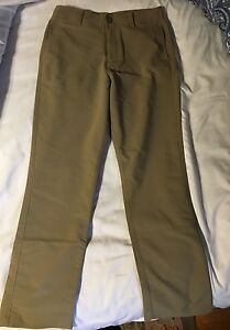 Under Armour Youth Boys Size Medium Khaki  golf Pants