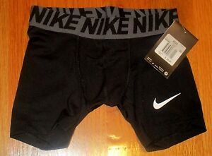 Boys Nike Dry Fit  Compression Base Layer Shorts Bottoms Black XS New