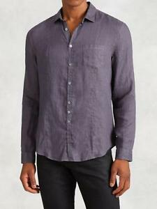 NWT John Varvatos Linen Shirt Dry Fig Size Small $228 Slim Fit