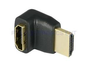 90 Degree Right Angle HDMI a Male to Female Up Coupler Adapter Connector C $4.89