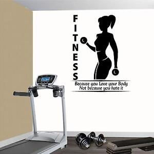 Fitness Wall Decals. Gym. Exercise: Fitness because you love your body