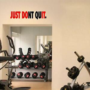 Fitness Wall Decals. Gym. Exercise: Just Don#x27;t Quit