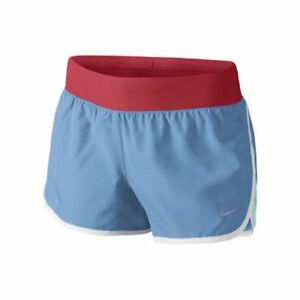 Nike Tempo Rival Girl's Running Shorts - Size S  Small BlueRedWhite