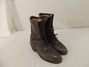 Vintage Georgia Work Boots Men#x27;s 8 Leather Upper amp; Leather Lining 50826