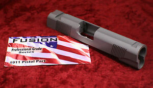1911 Slide 45 acp Stainless CommanderFront Rear & Top Serrations