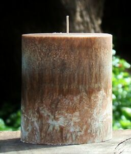 80hr DARK AMBER & CARDAMON Triple Scented Natural OVAL ECO CANDLE Cotton Wicks