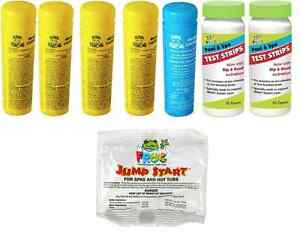 Spa Frog Kit 5 pack 4 Bromine 1 Mineral Test Strips Jump Start PRIORITY MAIL