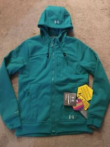 Women's Under Armour Infrared Jacket Zip up Green Size S New! Storm2 Cold Gear