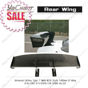 Carbon Rear Spoiler For S2000 GRB GC Universal Voltex Type 7 SWAN NECK GT Wing