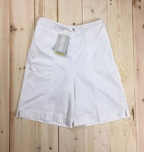 Nike Golf Shorts Women's 8 High Waisted Dri Fit Stretch Cotton White NWT Vtg 01
